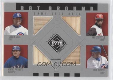 2002 Upper Deck Diamond Connection Bat Around Quads #SGPM - Sosa/Grif/Raffy/McGriff - Courtesy of CheckOutMyCards.com