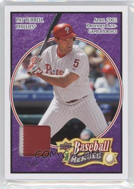 2008 Upper Deck Heroes Patch Purple #137 - Pat Burrell/5 - Courtesy of CheckOutMyCards.com