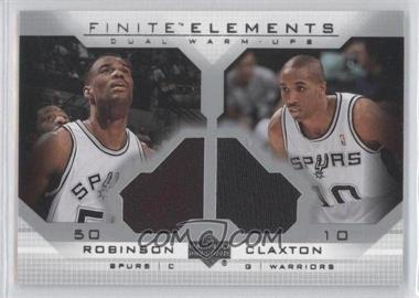 2003-04 Upper Deck Finite Elements Warmups #FE25 - David Robinson Speedy Claxton - Courtesy of CheckOutMyCards.com