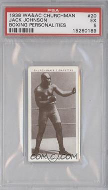 1938 Churchman's Cigarettes #20 - Jack Johnson PSA GRADED 5 - Courtesy of CheckOutMyCards.com