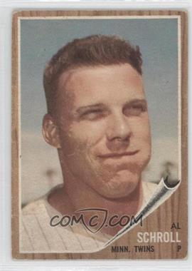 1962 Topps #102 - Al Schroll - Courtesy of CheckOutMyCards.com