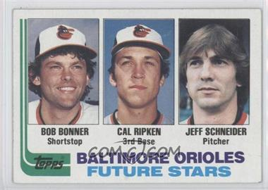 1982 Topps #21 - Cal Ripken RC (Rookie Card) Bob Bonner RC (Rookie Card) Jeff Schneider RC (Rookie Card) - Courtesy of CheckOutMyCards.com