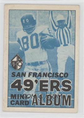1969 Topps Mini-Albums Inserts #15 - San Francisco 49ers - Courtesy of CheckOutMyCards.com