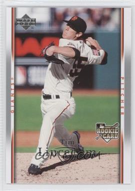 2007 Upper Deck #918 - Tim Lincecum RC (Rookie Card) - Courtesy of CheckOutMyCards.com