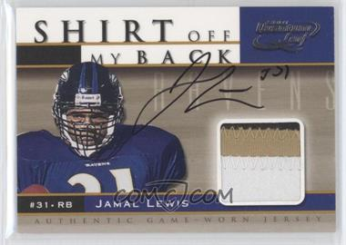 2001 Quantum Leaf Shirt Off My Back Autographs #SB1 - Jamal Lewis/100 - Courtesy of CheckOutMyCards.com