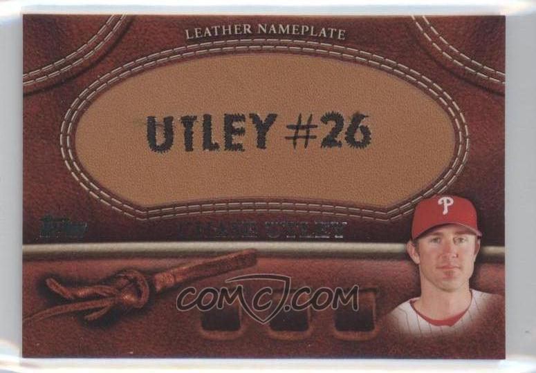 chase utley glove. 2011 Topps Glove Manufactured Leather Nameplates #CU - Chase Utley - CheckOutMyCards.com