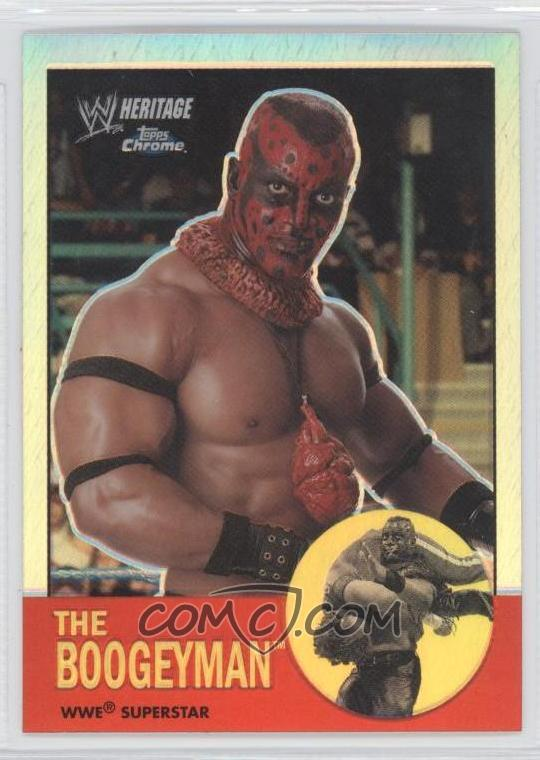 ...topps heritage ii chrome wwe refractors 14 the boogeyman