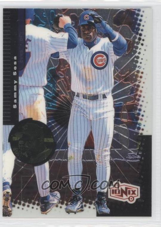 google 1999. GOOGLE#39;s 1999 UD Ionix Sammy Sosa Baseball Cards